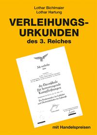Verleihungsurkunden 3. Reich